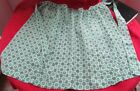 Pretty Half  Apron , Feed Sack Fabric, large size 40's or 50's
