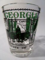 GEORGIA SCENERY GREEN SHOT GLASS SHOTGLASS