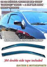 JDM Side Window Rain Guard Visors (Tinted) Fits 02-05 Honda Civic 3dr EP3