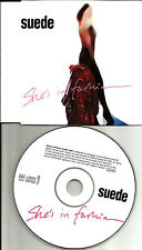 SUEDE She's In Fashion w/RARE EDIT EUROPE Made PROMO DJ CD Single USA Seller