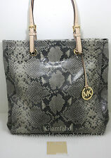 Sale NW/T AUTH MICHAEL KORS MK JET SET ITEM N/S PHYTON EMBOSSED LEATHER TOTE BAG