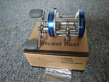 AIHUA CB50 Blue Fishing Reel , MULTIPLIER ,Right or Left Holds
