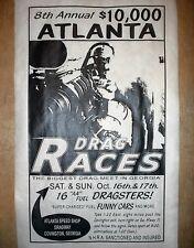 """(125) DRAG STRIP ATLANTA SPEED SHOP DRAGSTER HOT ROD GASSER GARAGE POSTER 18x30"""""""