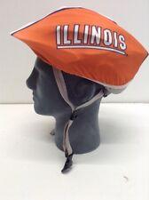 ILLINOIS ILLINI Helmet Cover Bicycle Skate Moto Helmet Skin Hat Cover.