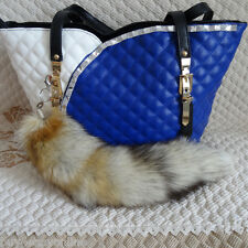 Hot Large Fox Tail  Bag Tag Fur Car Keychains Cosplay Tail Pendant US stock