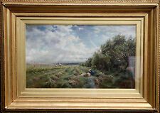 CHARLES JAMES LEWIS BRITISH VICTORIAN LANDSCAPE OIL PAINTING ART RI ROI 1830189