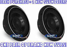 "(2) ROCKFORD FOSGATE P3SD2-10 1200W 10"" Dual 2-ohm Punch Shallow Car Subwoofers"