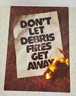 "VTg~1970~Smokey The Bear~department Forest ServicePOSTER -""DON'T LET DEBRIS FI--"