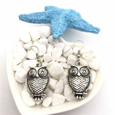 Owl Charm Earrings Tibet silver Charms Earrings Charm Earrings for Her