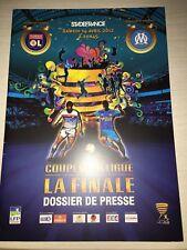 programme finale coupe de la ligue OM - OLYMPIQUE LYONNAIS, Lyon foot, OL