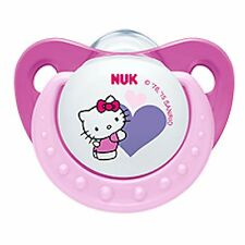 NUK Hello Kitty Baby Pacifier 6-18 Months Silicone Girl Pink Soother 0199-2