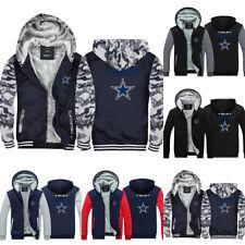 Dallas Cowboys Hoodies Thicken Hooded Winter Warm Sweatshirts Fleece Jacket Coat