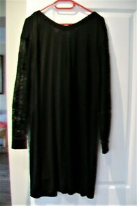 Yves Saint Laurent-black loose mid-length dress.FR 44 (UK 16/18).New with tags.
