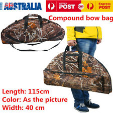 115cm Compound Bow Bag Archery Hunting Arrow Carry Bag Case Camouflage OZ