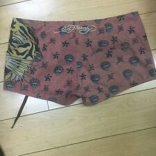 Ed Hardy swimsuit Tiger  Shorts, sz S* packet new women