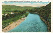 Postcard New York Sparrow Bush View of Delaware River Eddy Farm Orange County