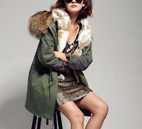 Luxury Fur Collar Hooded With Fur Lined Womens Winter Jacket Parka Coat Outwear