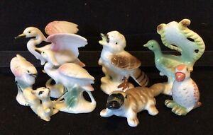 vintage Porcelaine Figurines Birds And Animals