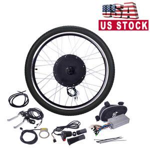 "26"" 48V 1000W Ebike Front Wheel Electric Bicycle Motor Conversion Kit Motor Hub"