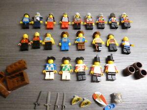 Lego Konvolut Minifiguren  Ritter Soldaten und Piraten
