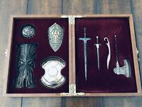 Dark Souls II 2 Collector's Edition Weapon Mini Replica Figures + Chart Sheet