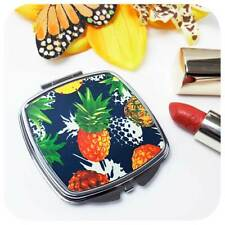 Pineapple Compact Mirror, Pineapple Gift for Her, Tropical Accessories, Hawaiian
