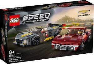 LEGO 76903 Chevrolet Corvette C8.R & 1968 Chevrolet Corvette FREE SHIPPING
