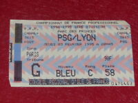 [COLLECTION SPORT FOOTBALL] TICKET PSG / LYON 23 FEVRIER 1995 Champ. France