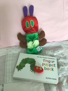 The Very Hungry Caterpillar Finger Puppet Book & Hand puppet Eric Carle