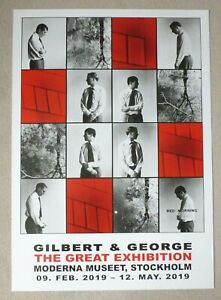 GILBERT AND GEORGE The Great Exhibition 2019 SWEDISH ART EXHIBITION POSTER
