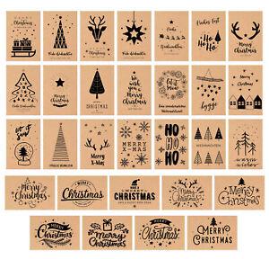 Set 30 Weihnachtspostkarten Kratfpapier (20804)
