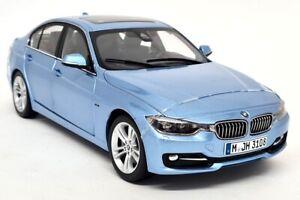 Paragon 1/18 Scale BMW 335i 3 Series F30 Liquid Blue Metallic Diecast Model Car