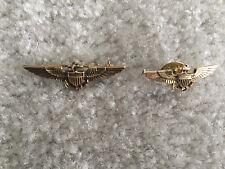 USMC Marine WWII Korea Era  Pilot Wings Mini 1/20 -10K Filled Plus Lapel Pin