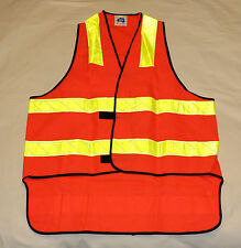 Sma Australia Mens Red Yellow Hi Vis Safety Vest 50mm Reflective Tape Size S New
