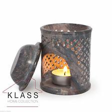 Moroccan Jali Soapstone Oil Diffuser Warmer TeaLight Holder Burner Aromatherapy