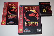 Mortal Kombat Sega Genesis Video Game Complete in Box