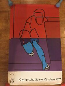 Original vintage poster OLYMPIC ART MUNICH 1972 Adami