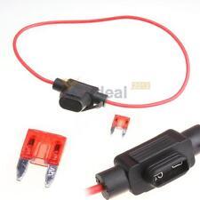 10A Mini Waterproof In Line Socket Blade Type Fuse Holders Fuse Car w/ Cover