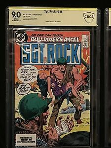 🔥SGT. ROCK #388 CBCS SS 9.0 SIGNED JOE KUBERT (R.I.P.) EXTREMELY RARE SIGNATURE