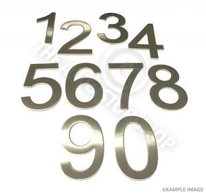 Stainless Steel House Numbers - No 949 - Stick on Self Adhesive 3M Backing 10cm