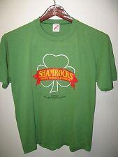 Shamrocks Against Muscular Dystrophy Vintage 1980's USA Thin Green T Shirt XLrg