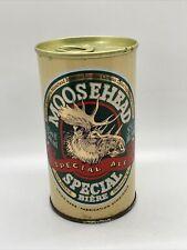 Rare Vintage Moosehead Straight Steel Pull Tab Beer Can Bottom Opened
