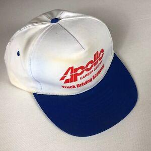 Apollo Truck Driving Academy Hat VTG Snapback Cap Career Center Adult Mens Guys