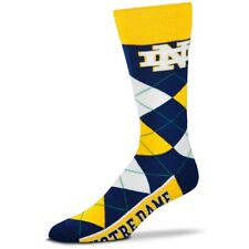 Notre Dame Fighting Irish Adult Argyle Crew Socks FBF 1 Pair-Lrg Free S/H (D2)