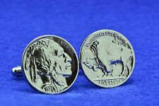 U.S. Vintage Buffalo Nickel Coin Cufflinks