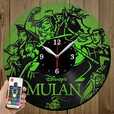 LED Vinyl Clock Mulan LED Wall Art Decor Clock Original Gift 3998