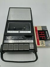 General Electric GE 3-5003A Portable Cassette Tape Recorder w New Blank Tapes