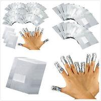 100 Stk Folie Nail Art Gellack Acryl Gel Politur Nagel Wrap Entferner Aluminium