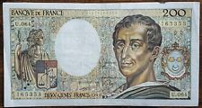 Billet 200 francs Montesquieu 1989 FRANCE  U.64