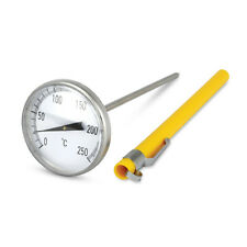 45 mm Dial Stainless Steel Barista / Thermometer with 130 mm stem  0 to 250°C